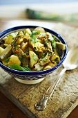 Moroccan Potato and Artichoke Salad with Harissa Dressing