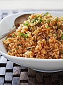 Serving Bowl of Spanish Rice
