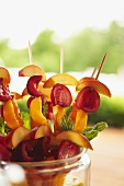 Stone Fruit Skewers Ready for the Grill