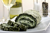 Spinach roulade with water cress