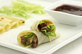 Beef rolls with spring onions (Thailand)