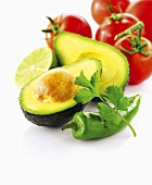 Avocado, tomatoes and chili pepper
