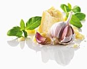 Garlic, basil and Parmesan