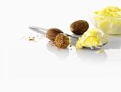 Rice pudding and nutmeg