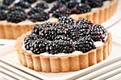 Individual Mascarpone and Blackberry Tart