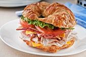 Club Sandwich on a Croissant