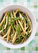 Chilled Green and Wax Bean Salad; From Above
