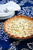 Vidalia Onion Quiche; Whole in Baking Dish