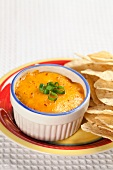 Crab and Artichoke Dip with Tortilla Chips