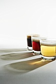 Three Glasses of Beer from Light to Dark