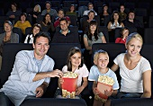 A family in the cinema