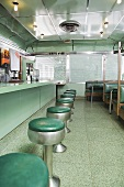 An empty American diner