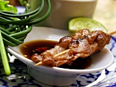 Thai satay with soy and chili sauce
