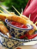 Crispy Thai fish rolls with chili sauce