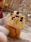 Coconut macaroon on cinnamon ball