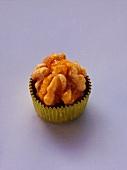 Meraner nut (marzipan sweet) in paper case