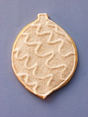 White decorated sweet pastry biscuit as Christmas decoration