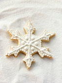 Decorated sweet pastry biscuit (snowflake)