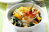 Glass noodle salad with vegetables and peanuts