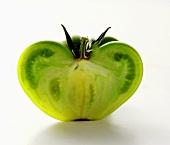 Half a green tomato
