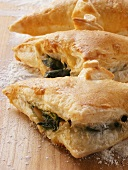 Puff pastries filled with spinach