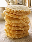 Heidesand biscuits with granulated sugar edge