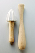 Lemon squeezer and wooden pestle
