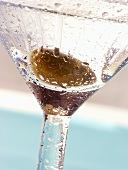 Martini with green olive (detail)