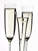 Champagne glasses and festive champagne flute