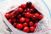 Cranberries in freezer bag (from above)