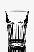 Empty water glass in black and white