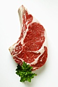 Ribeye steak and parsley