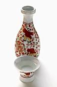 Asian carafe and bowls