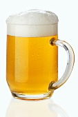 Lager in glass tankard