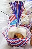 White chocolate brownie for the 4th of July