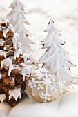 Lebkuchenbäume mit Zuckerguss und Elisenlebkuchen