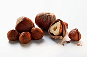 Hazelnuts, with and without shell