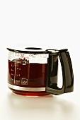 Coffee in glass coffee pot