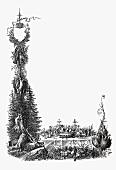 Festliche Speisekarte: Menü König Albert (Illustration)