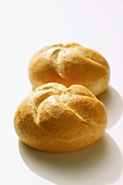 Two bread rolls