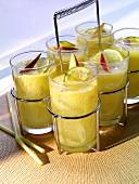 Mango and rum cocktails