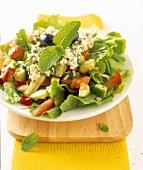 Greek peasant's salad with mint