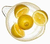 Lemons in citrus squeezer