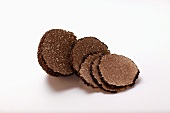 Black truffle, a piece cut off