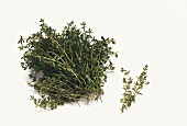 A bunch and a sprig of fresh thyme