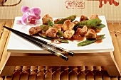 Chicken fillet with mangetout (Asia)