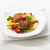 Rissoles with mixed vegetables