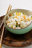Vegetable rice in small bowl