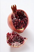 Pomegranate with piece cut out