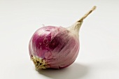 Red Onion Partially Peeled